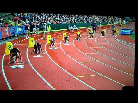 Tori Bowie wins Women's 200m dash 22.25(-.06)USA Olympic Trials 2016