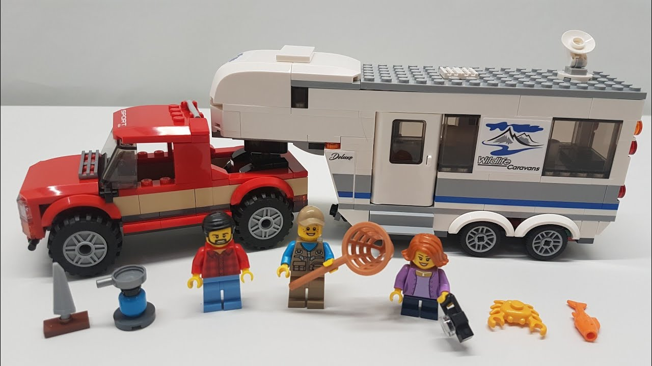Verrassend LEGO City Pickup Truck & Caravan Camper Build & Review - Set 60182 NZ-97
