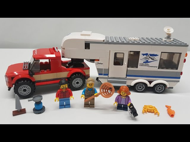 LEGO City Pickup Truck & Caravan Camper Build & Review - Set 60182