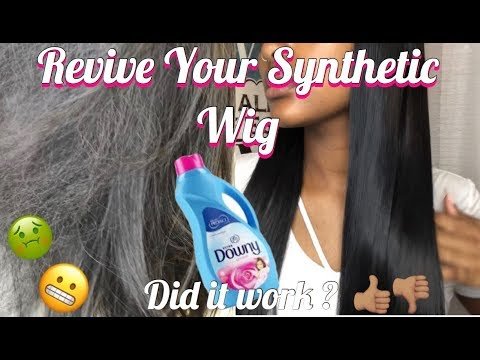 DOWNY TO REVIVE YOUR SYNTHETIC WIG ?