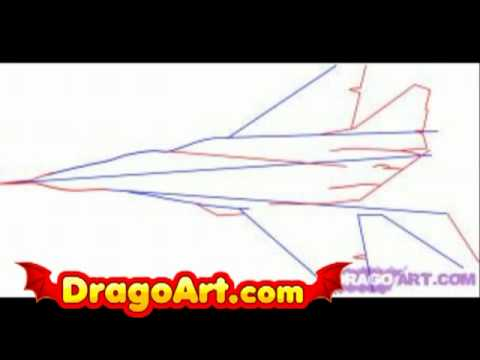 How to draw a fighter jet step by step  YouTube
