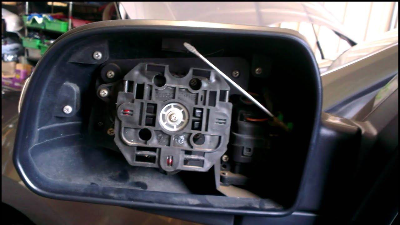 Toyota Santa Fe >> 原廠後視鏡塞1字起子 - YouTube