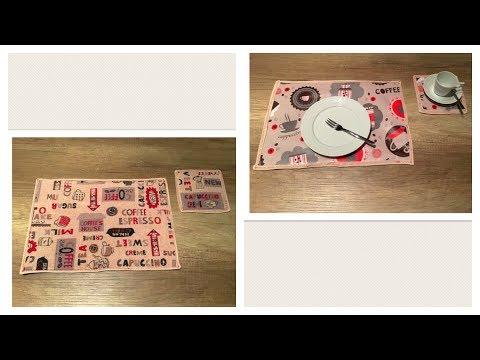 Tischset/ Platzset/ Placemats (Schrägband Meterware selbst herstellen & Patchwork-/ 1/4inch Nähfuß)