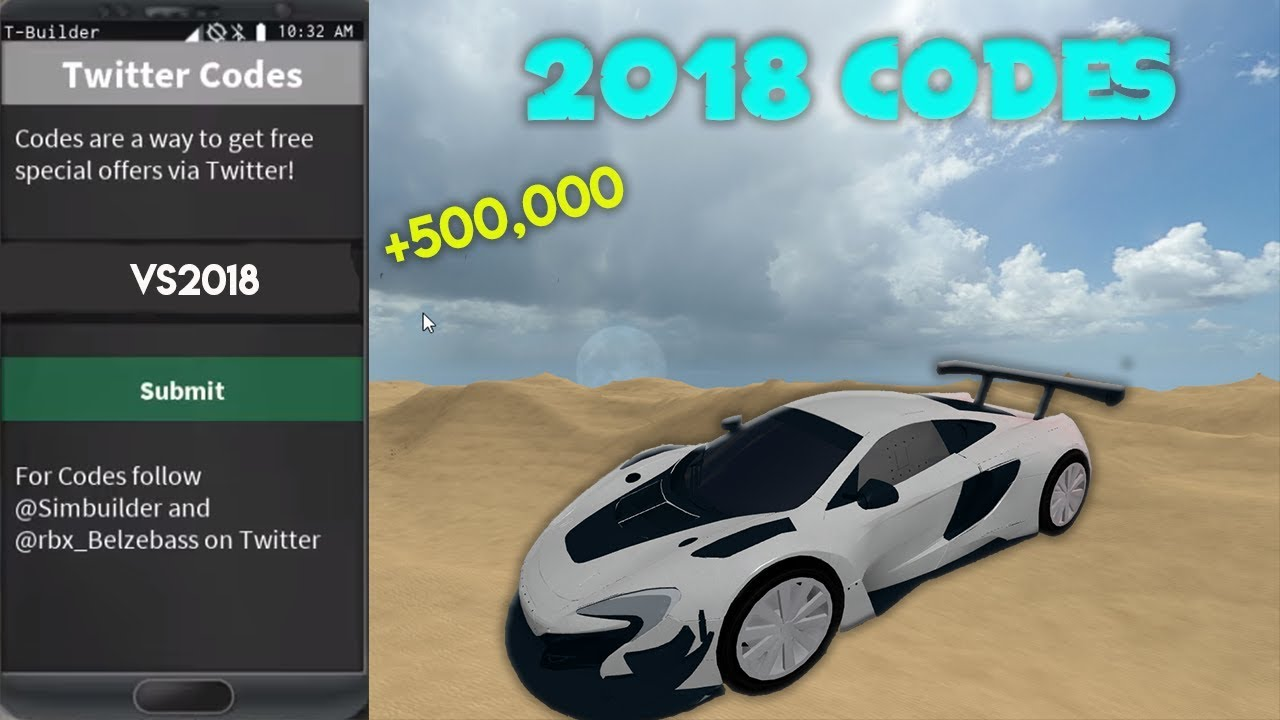 NEW 2018 VEHICLE SIMULATOR MONEY CODES - YouTube
