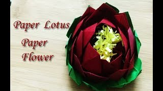 How to make lotus from paper, paper lotus,Paper flower ,Paper craft activity
