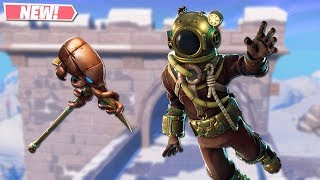 NEW DEEP SEA DESTROYER SKIN GAMEPLAY! NEW LEAKED SKINS ON FORTNITE!! FORTNITE BATTLE ROYALE!!!