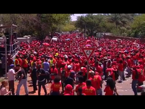 EFF march to Israeli embassy in solidarity with Palestinians