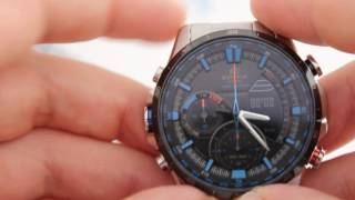 Casio EDIFICE ERA-300DB-1A2 - інструкція, як налаштувати годинник від PresidentWatches.Ru
