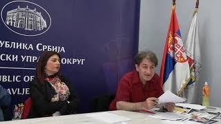 Трећи део снимка трибине у Смедеревској Паланци  Душко Велковски, новинар