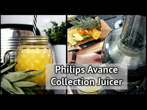 How To Use The Philips Avance Collection Juicer    xameliax