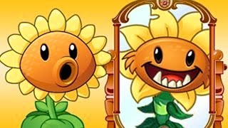 Primal Sunflower vs Sunflower Power-Up! in Plants vs Zombie 2