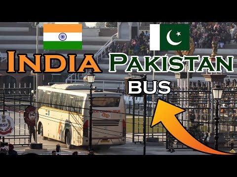 India Pakistan Bus Wagah Border Crossing Live Video In 4k Ultra Hd