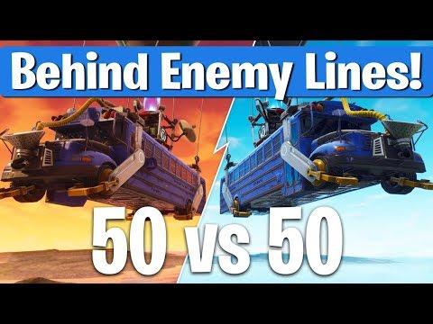 50 vs 50 Fortnite Battle Royale - Behind Enemy Lines!