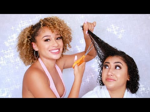 Doing My Sisters Curly Hair For the First Time!