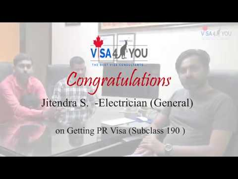 Jitendra (Electrician) Got PR Visa For Australia.