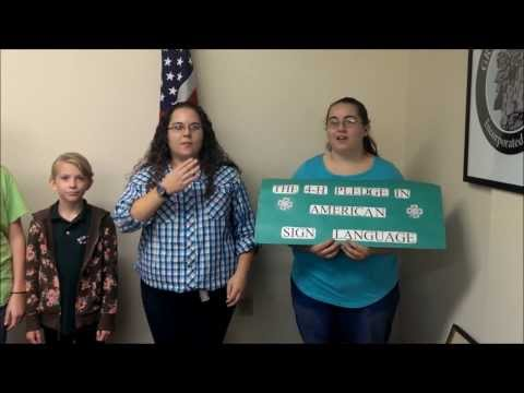 4 H Pledge ASL (American Sign Language)