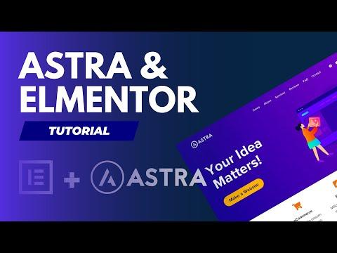 Astra Theme + Elementor - Kostenlos Eine Professionelle Wordpress Webseite Aufbauen - Tutorial