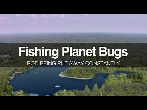 Fishing Planet Bugs: Rod Being Put Away Constantly