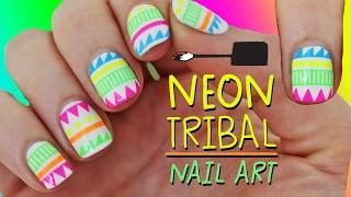 NEON TRIBAL NAIL ART (I cheated) | Nailed It NZ