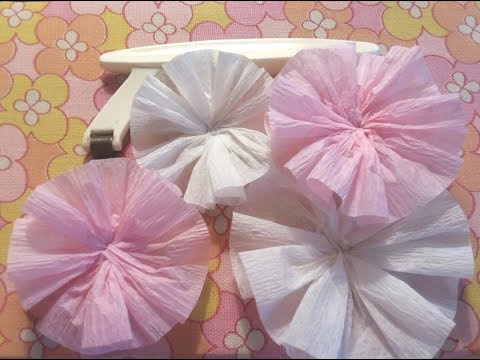 Fast & Easy Way to Make a Crepe Paper Rosette Embellishment