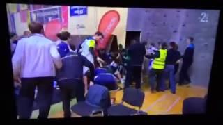 Словения против Украины Гандбол бороться 12 01 2014 HD