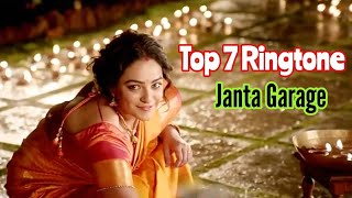 Top 7 Janta Garage Lovely Ringtones || All Lovely Ringtones Of Janatha Garage || Samantha, Jr. Ntr