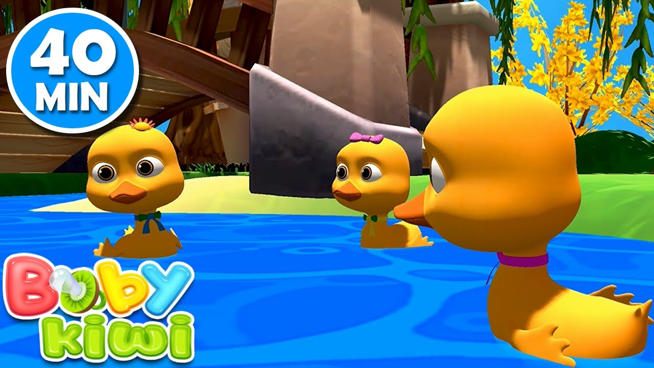 All my little ducks went on the lake 40 MIN - Nursery Rhymes | Baby Kiwi 🥝