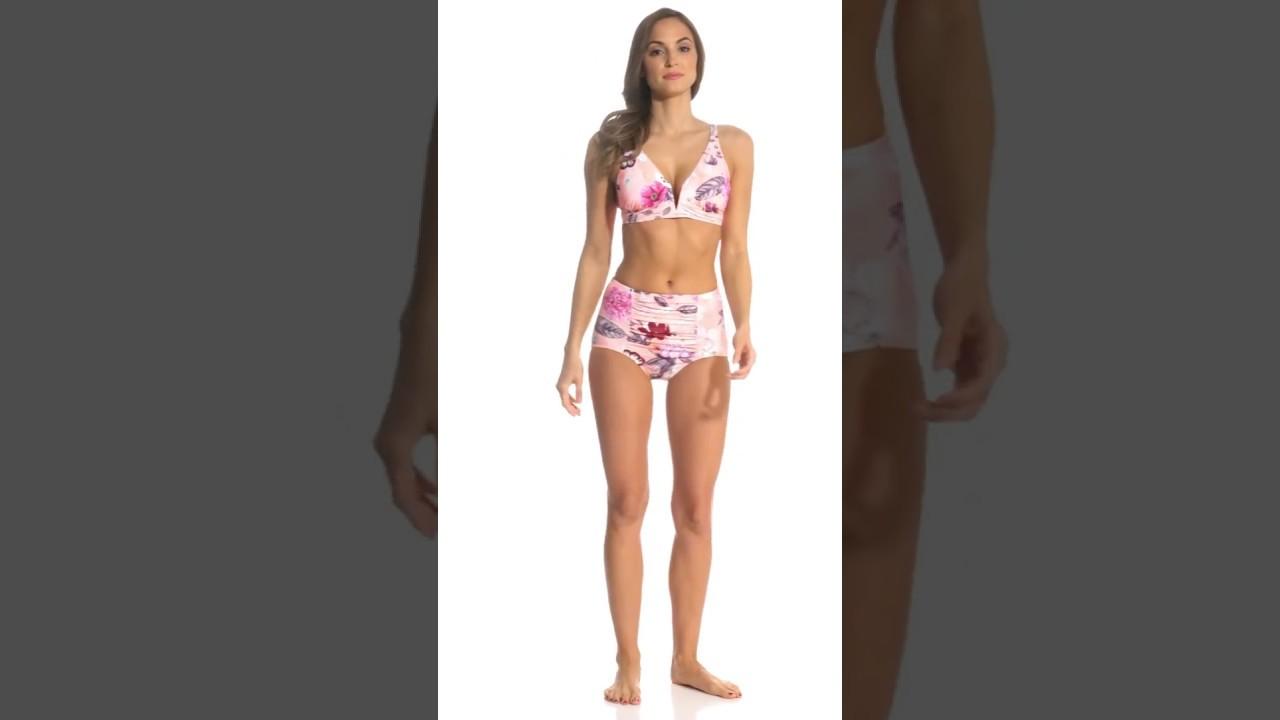 703d28dbfabc3 Seafolly Modern Love Longline Triangle Bikini Top | SwimOutlet.com - YouTube
