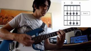 Get Lucky Daft Punk rhythm guitar lesson