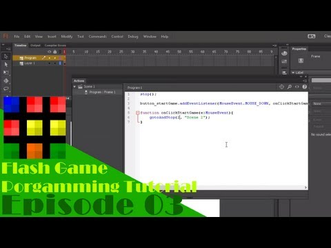 Flash Game Programming Tutorial - Episode 3: Starting Our Game!