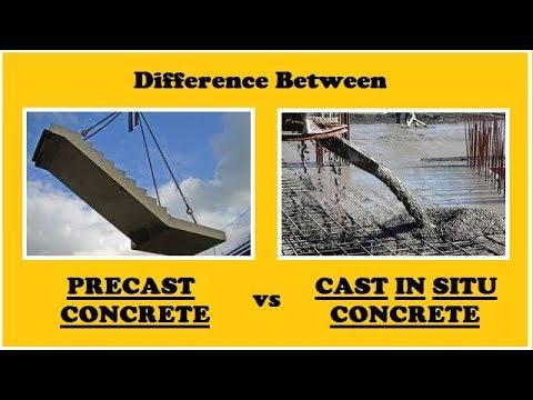 Precast Concrete Vs Cast In Situ Concrete Youtube