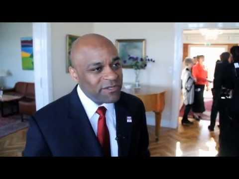 The mayor of Denver, Michael Hancock in Reykjavik