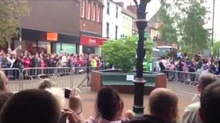 OLYMPIC FLAME RELAY IN CREWE TOWN CENTRE