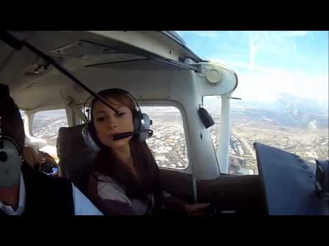 The Talk of San Diego & Aly Kajan go flying over San Diego with California Flight Academy in Santee