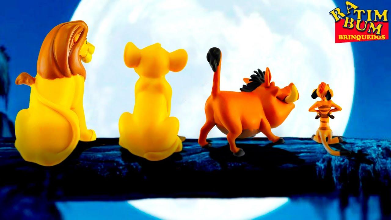 coleção de miniaturas desenho o rei leão disney com simba timão