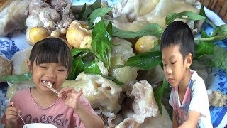 How To Cooking Bamboo Chicken Soup And Delicious Chicken Salad Recipe Of My Family || Cooking Skil