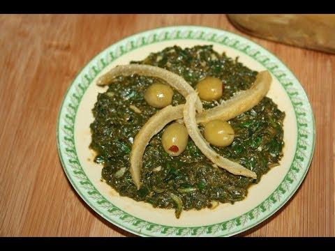 spinach-salad-recipe---recette-salade-d'épinards-(bakoula)---recettes-maroc