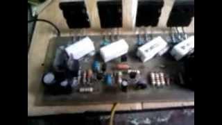 reparacion de tarjeta de audio calentamiento de transistores de salida