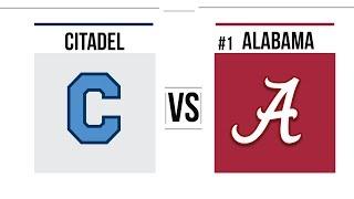 Week 12 2018 The Citadel vs #1 Alabama Full Game Highlights