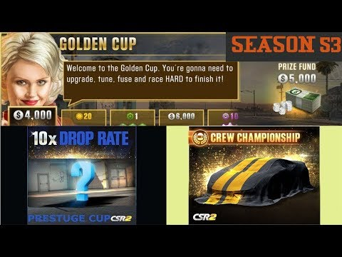 NEXT SEASON PRIZE AND PRESTIGE CUP CARS PLUS GOLDEN CUP INFO | CSR RACING 2