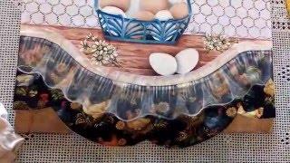 Videoaula de Pintura em Tecido – Falso Barrado com Transparência