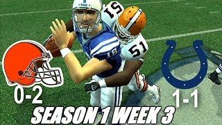 WEEK 3 VS THE COLTS - MADDEN 06 BROWNS FRANCHISE - s1w3