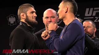 UFC 223 Face Offs: Khabib Nurmagomedov vs Max Holloway, Rose vs Joanna