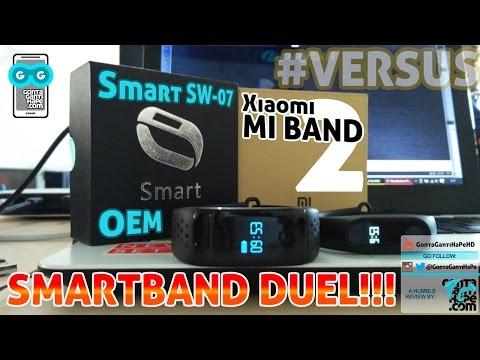 Xiaomi MI BAND 2 Review Indonesia + Smartband DUEL versus Smart SW-07 (OEM GX-BW165)