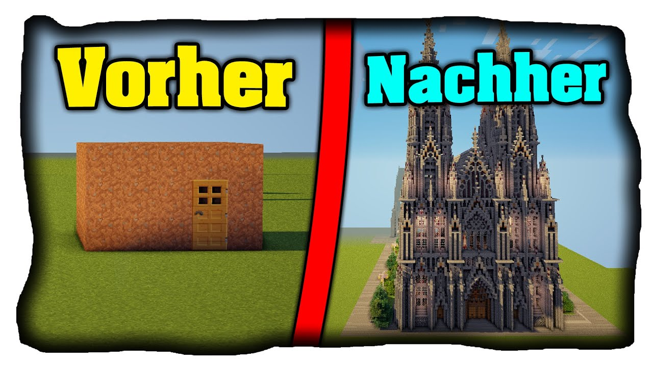 Minecraft Spielen Deutsch Minecraft Haus Bauen Anleitung Youtube - Minecraft haus bauen mit anleitung