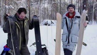 охотничьи лыжи для рыбалки (деревянные Vs пластиковые) - тест