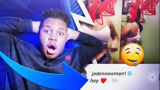 I Sent A DM To Jaden Newman *She Called Me Cute* Then She Sent Me A Thirst Trap To My Phone. OMG 😱!