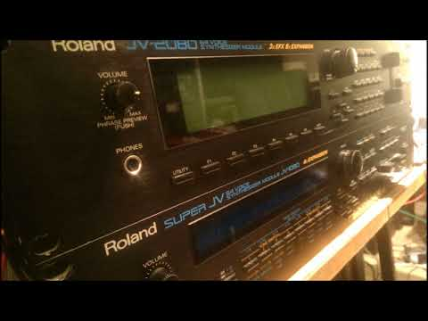 Massive Roland JV-2080 with friends