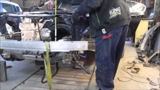 BMW. Body repair. Ремонт кузова.(The chassis leg repair. Ремонт лонжерона., 2015-07-13T15:11:40.000Z)