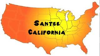 How to Say or Pronounce USA Cities — Santee, California